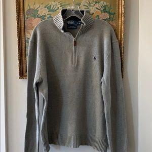 Ralph Lauren Polo Quarter Zip Sweater. Size XL